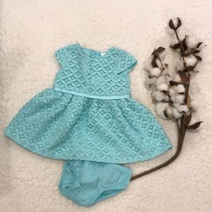 Carter's Teal Lace Dress